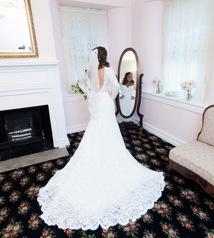The Beautiful Bride in her Bridal Suite