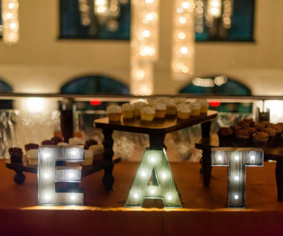 Desert table by queen of Hearts Catering