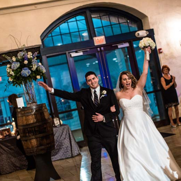 Wedding reception at the Phoenixville Foundry