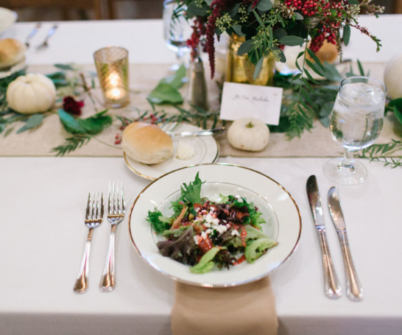 Place setting by Queen of Hearts Catering
