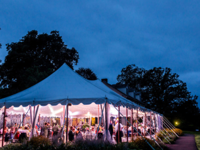 Outdoor wedding reception at SMF