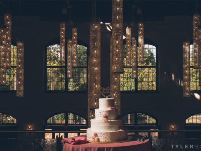 Wedding cake at the Phoenixville Foundry