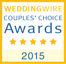 WeddingWire award for Queen of Hearts Catering