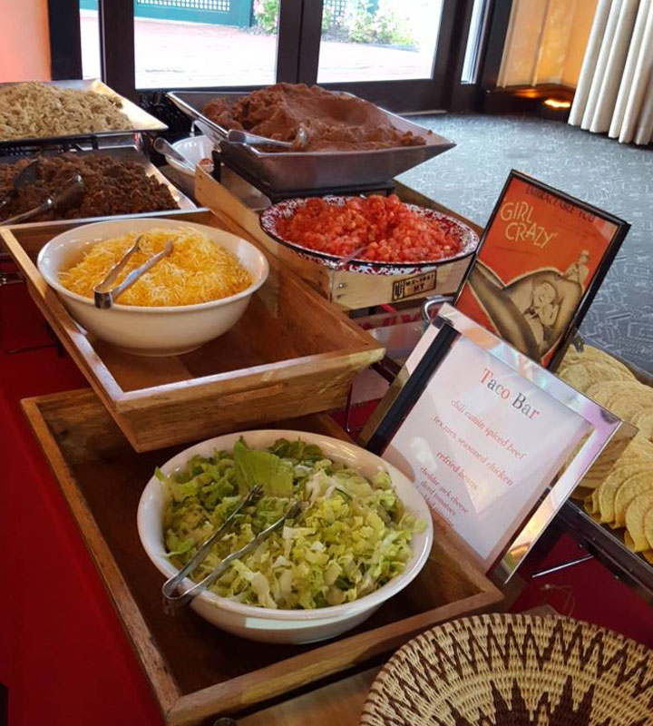 Taco bar by Queen of Hearts catering