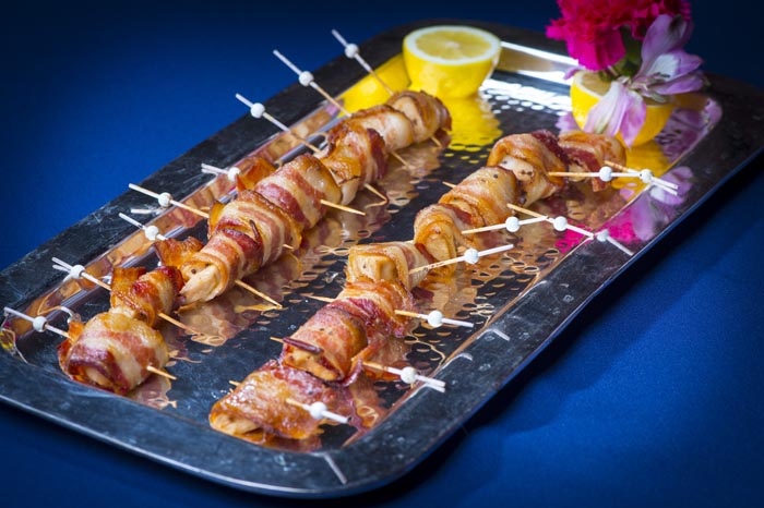 Maple Dijon Chicken and Cherry Bacon Skewer