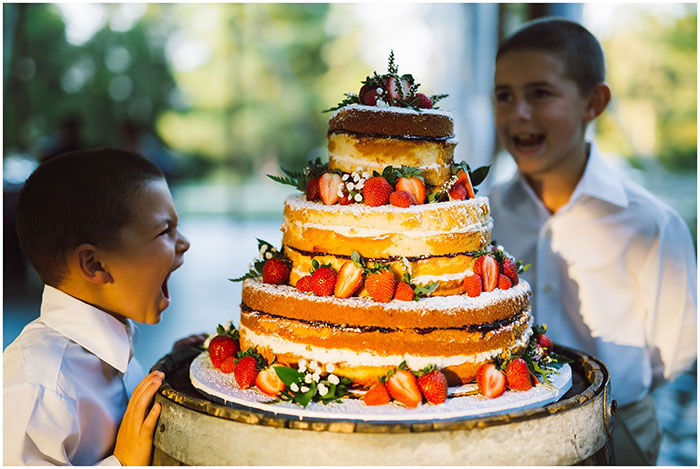 Wedding Cake with Seasonal Fruits