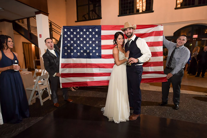 American Celebration at Wedding