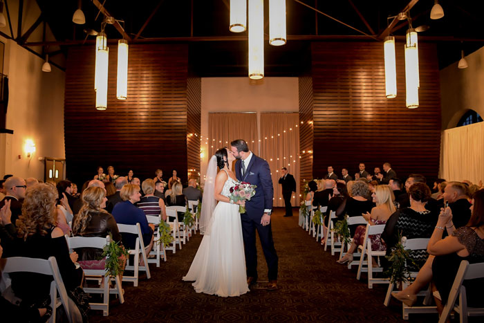 Indoor Wedding Ceremony at Phoenixville Foundry