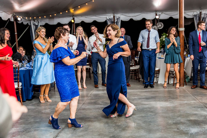 Dancing at Springton Manor Farm Tent during Wedding
