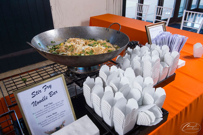 Stir Fray Noodle Bar Action Station at