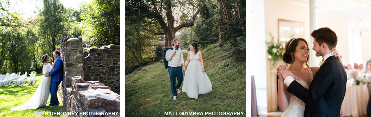 Brides and grooms at Historic Yellow Springs for their weddings