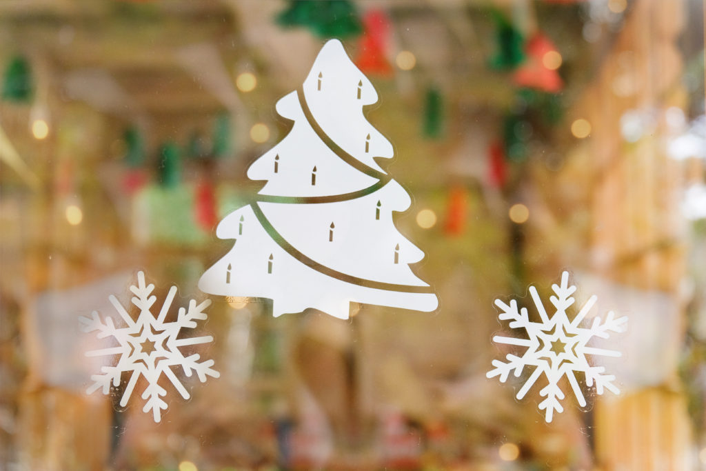Holiday Window Decorating