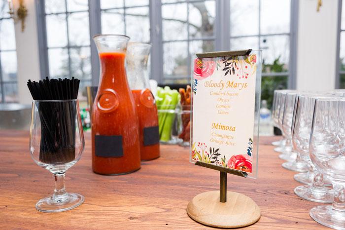 Brunch Wedding Bloody Mary Bar