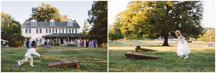 Cornhole and Games at Outdoor Wedding