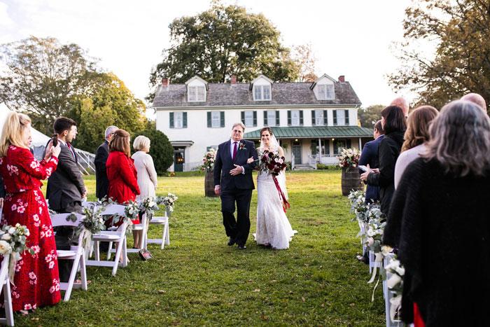 Wedding Ceremony at Springton Manor Farm