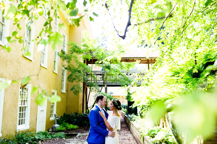 Bride and Groom at Historic Yellow Springs