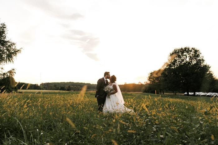 Bride and Groom Photo Opportunity Around Scenic Springton Manor Farm