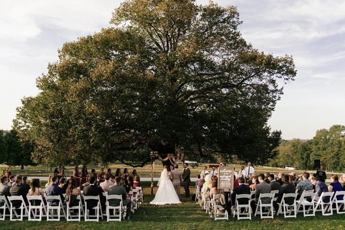 Outdoor Wedding Ceremony at Springton Manor Farm