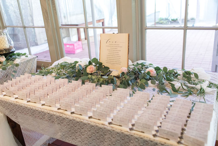 Table Seating Place Cards