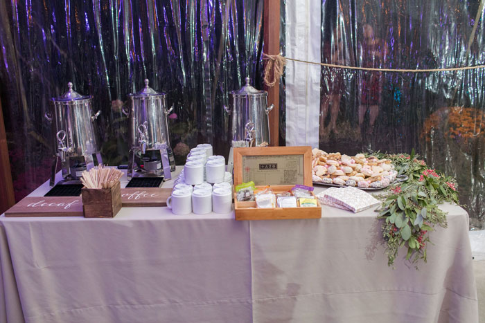 Coffee and Dessert Station at Wedding