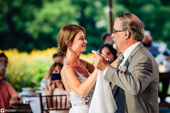 Father Daught Dance at Springton Manor Farm Wedding